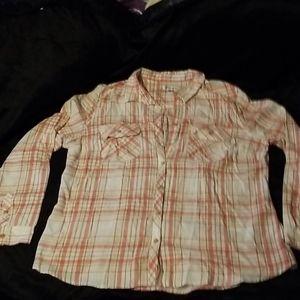Croft&Barrow. Button up long sleeve shirt  XXL